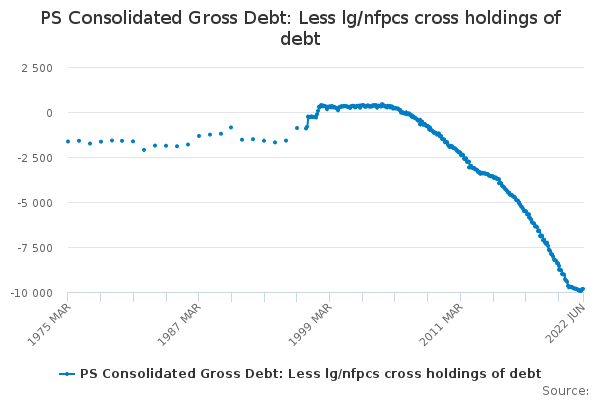 PS Consolidated Gross Debt: Less lg/nfpcs cross holdings of debt