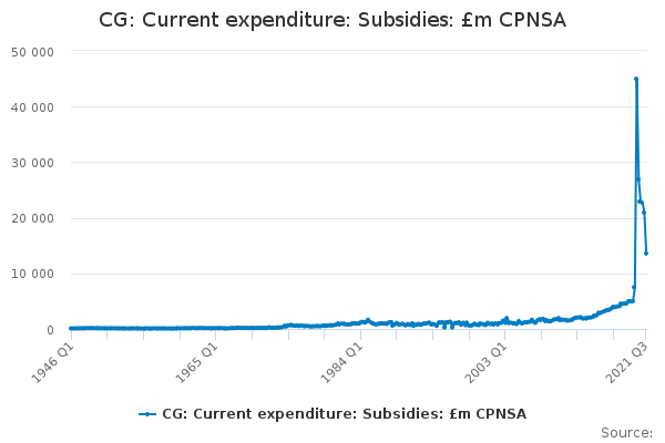 CG: Current expenditure: Subsidies: £m CPNSA