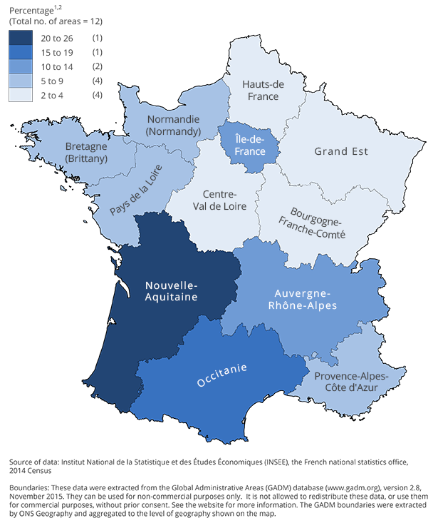 Map Of Uk France.Living Abroad Office For National Statistics