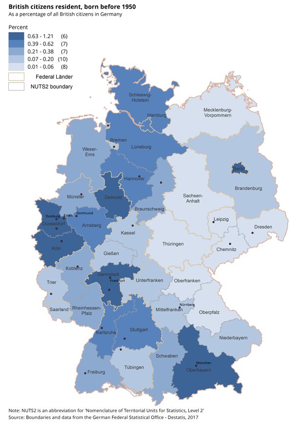 Living Abroad Office For National Statistics - Germany uk map