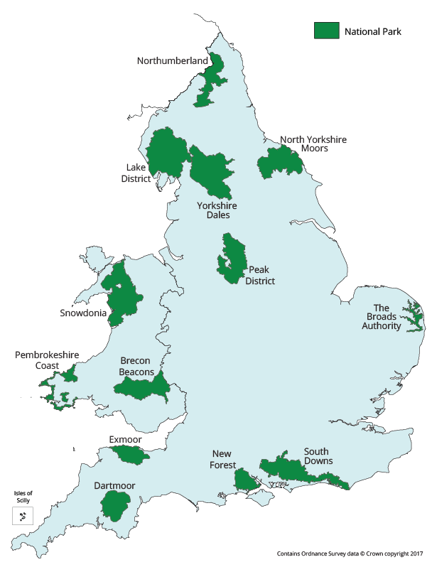 National Parks in England and Wales
