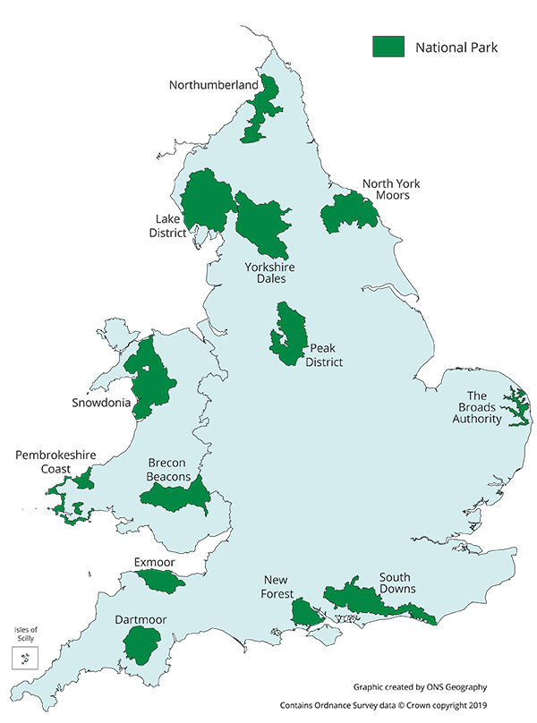National Parks in England and Wales.