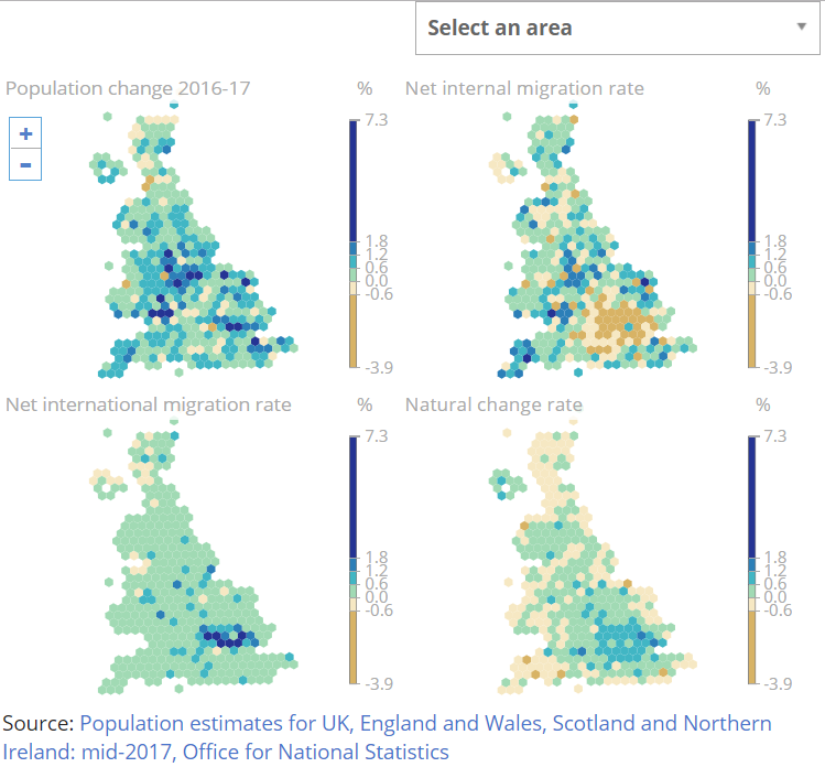 Population Estimates For The Uk England And Wales Scotland And